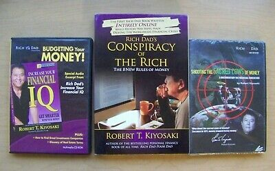 Rich Dad Conspiracy of the Rich Kiyosaki + New DVD + Budgeting Your Money CD-Rom