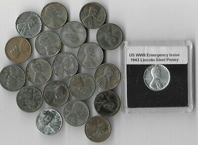 20 RARE OLD WWII US Coin Collection WW2 Steel Lincoln Penny Vintage War Lot  T19