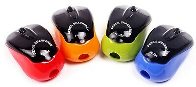 Plastic Single Hole Keyboard Mouse Pencil Sharpener. Different Colours Available