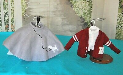 "Vintage Style 1950's Poodle Skirt/Boyfriend Sweater for 16"" Teen Doll Clothes"