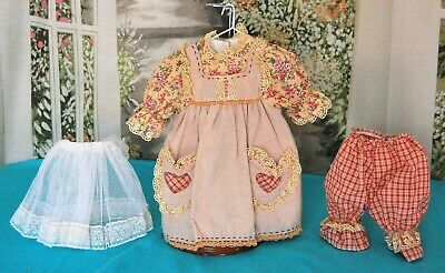"Vintage Style 1950's Country Cousin Print Romper Dress for 20"" Doll Clothes"