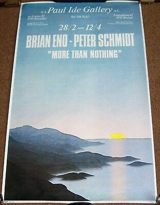 Roxy Music Brian Eno Exhibit Poster 'more Than Nothing' Brussels Feb-April 1980