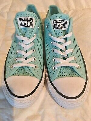 01b2d9ff3aab50 NWOT Women s Chuck Taylor CONVERSE ALL STAR Aqua Mesh Sneakers Shoes Sz 10