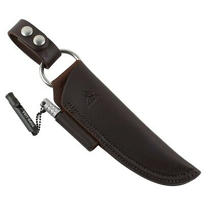 TOPS Brothers of Bushcraft BOB Brown Leather Fixed Blade Knife Sheath