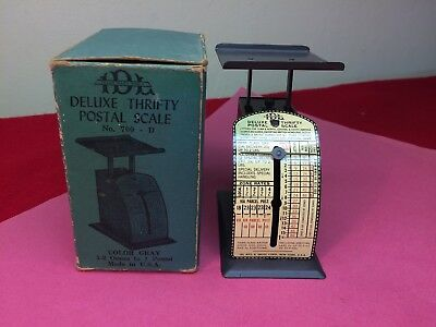 VINTAGE 1930's DELUXE THRIFTY 1 Lb POSTAL SCALE No 700-D Mint In Box!