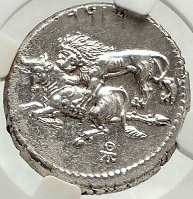TARSOS CILICIA Authentic Ancient 331BC Silver Stater Greek Coin LION NGC i76163