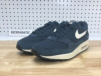 6d3b3715843 Nike Air Max 1 Mens Men s Sz 9.5 Armory Navy Sail Black Running Shoes AH8145 -