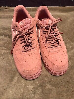 NIKE AIR FORCE 1  07 LV8 Suede Casual Shoes Pink Stardust AA1117-601 ... 6cc8e8963