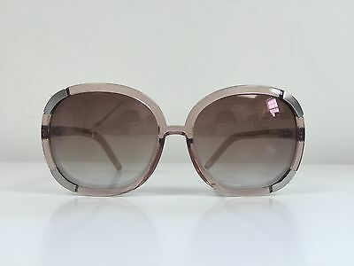 0a330c4d2803 Authentic NWT CHLOE CL 2119 Oversize Sunglasses Clear Pink Plastic Round  Frames