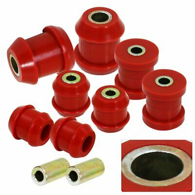 RDT Black Rear Lower Control Arms Red Polyurethane Bushing For 1992-1995 Civic
