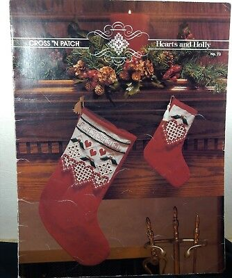 Cross N Patch Designs Hearts and Holly No. 73 Hardanger Christmas Stocking Chart