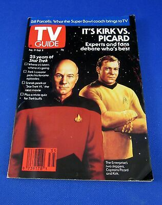 TV Guide August 31 - September 6, 1991 Star Trek Kirk Vs. Picard