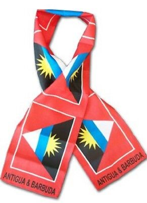 "Antigua Barbuda Country Lightweight Flag Printed Knitted Style Scarf 8""x60"""