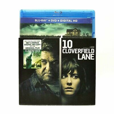 10 Cloverfield Lane (2016) Blu-ray + DVD with SLIPCOVER! Mary Elizabeth Winstead