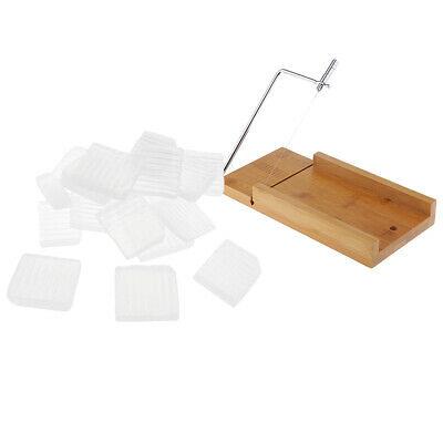 Stainless Steel Soap Cutter Loaf Slicer w/ 1kg Clear Melt and Pour Soap Base