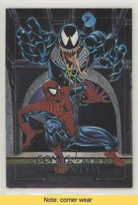 1992 SkyBox Marvel Masterpieces Battle Spectra #4-D Spider-Man vs Venom READ 0p3