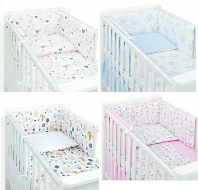 BEDDING SETS 8 PART SET COT BED 120x60 WITH DRAWER  INCLUDING FOAM MATTRESS