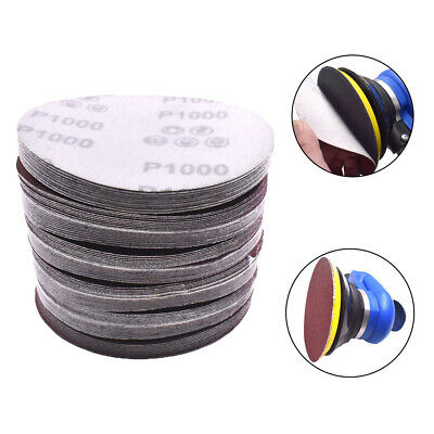 Round Shape 5''  125mm Disk Sand Sheets Sandpaper Disc Pads