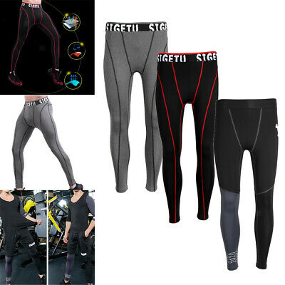 Mens Compression Tight Legging Running Gym Exercise Sports Fitness Long Pant