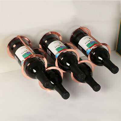 Wine Rack 5 Bottles Holder Metal Wine Cabinet Display Rack Housewarming Gift