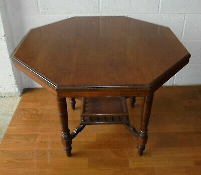 Antique Victorian Mahogany Hexagonal Occasional Hall Table Project