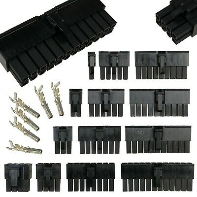 5557 4.2mm Double Row Connectors (2-24 Pin) + Crimps (Molex Mini-fit Jr .Style)