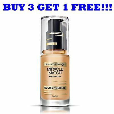 Max Factor Foundation Miracle Match 30ml Sand 60