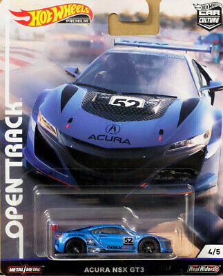 Acura NSX GT3 Open Track 4/5 Car Culture 1:64 Hot Wheels FYN63 FPY86