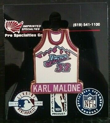huge discount d8f99 abaa0 KARL MALONE UTAH Jazz Jersey Collectible Imprinted Products Enamel Pin  Authentic