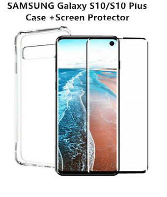 For Samsung Galaxy S10/ S10 Plus Shockproof Slim Case with Screen Protector