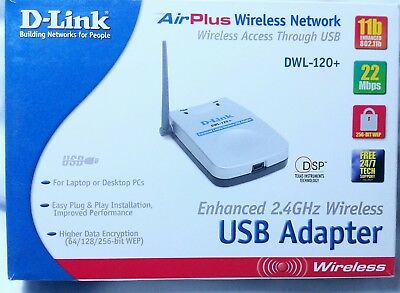 D-LINK AIRPLUS DWL-120 WIRELESS USB ADAPTER WINDOWS 7 DRIVERS DOWNLOAD (2019)