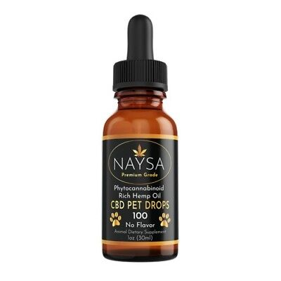 100% REAL CBD Oil for Pets (Dogs, Cats & More) Pure Natural Tincture Hemp Drops