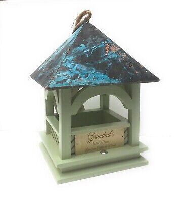 Bempton Hanging Bird Table engraved with free Wooden message plate,