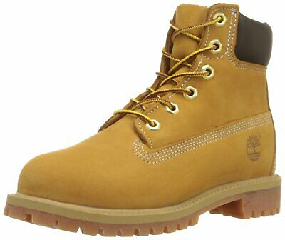 05f8a78e5111 TIMBERLAND 6-INCH PREMIUM Waterproof Wheat Nubuck Junior Big Kids ...