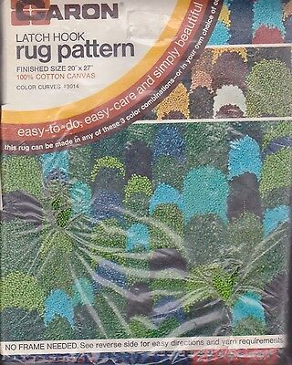 Caron Latch Hook Rug Pattern  COLOR CURVES #3014  Sealed Package