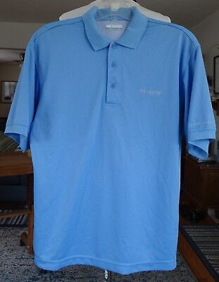 1f79ca72b2b COLUMBIA PFG PERFORMANCE FISHING GEAR POLO SHIRT OMNI SHADE MESH Blue SIZE S