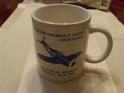 P-47 Thunderbolt Pilots Association Ceramic Cup/Mug 36th Annual Reunion, Dallas