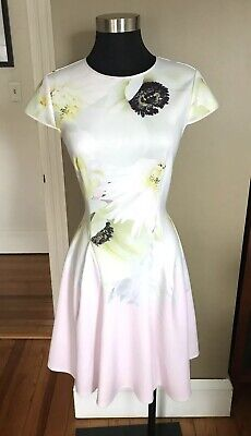 Ted Baker Dixa Layered Formal Dress Baby Blue Size Tb 1 Us2