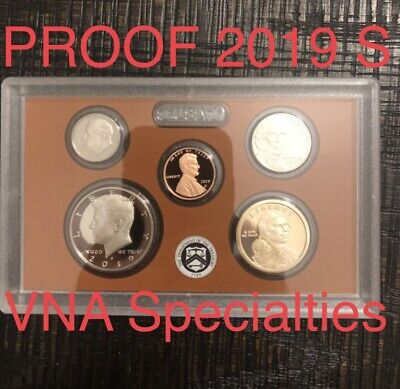 IN HAND DEEP CAMEO 2019-S United States Mint Proof Set /COA no box!!!! 5 coins.