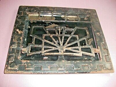 "Heat Air Grate Wall Register 10"" x 12 "" Wall Opening - VINTAGE - Works! ART DECO"