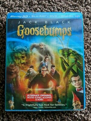 "Goosebumps"" (2016) Blu-Ray 3D 3 disc set + Digital Download Code"