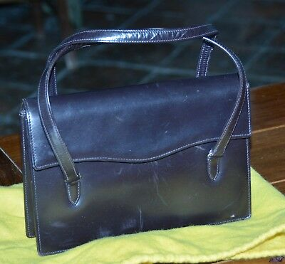 Kelly bag vintage anni  60 in vitello marrone scuro 19e2b6896f8