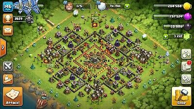 CLASH OF CLANS 146lvl TH 10 /26-25 Heroes/ 3K+ GEMS/ Android & IOS/NAME  CHANGE