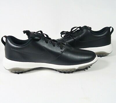 8b5402b0a37e Men s Nike Roshe G Tour Golf Shoes Black Hit AR5580 001 Leather white Size  12