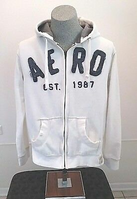 NWT MENS AEROPOSTALE AERO 87 SHERPA  FULL ZIP UP HOODIE SIZE MEDIUM M  RV$89.50