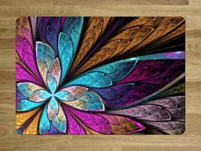 Glass Worktop Saver Chopping Board Stained Glass Coloured Butterfly Effect
