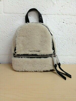 cb702430bd23 New Michael Kors Rhea Zip Extra Small Messenger Backpack shearling No STRAPS