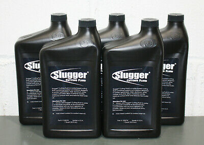 (5) Jancy Slugger Cutting Fluid 10207W,1 Quart / 32 oz Liquid, Amber Oil