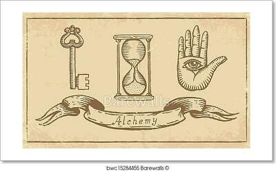 Alchemical Symbols Art Print Home Decor Wall Art Poster