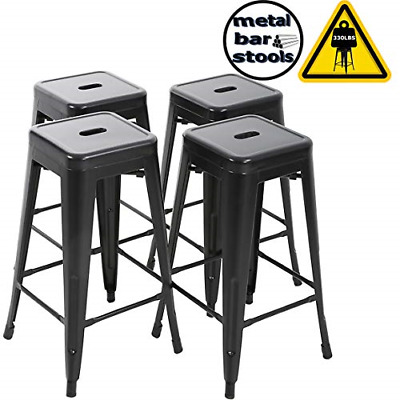 """/""""30/'/' High Backless Blue Metal Indoor-Outdoor Barstool CH-31320-30-BL-GG/"""""""